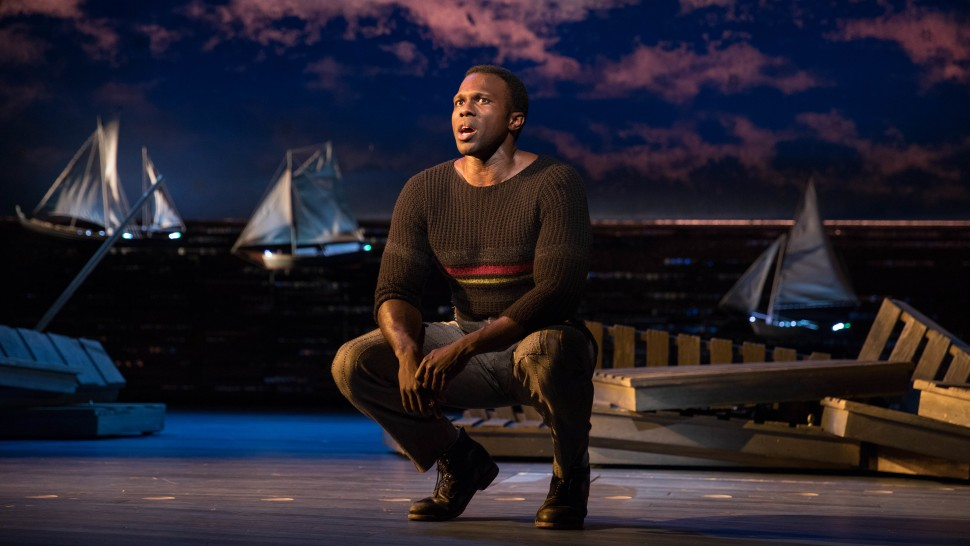 Joshua Henry in the 2018 Broadway revival of Carousel