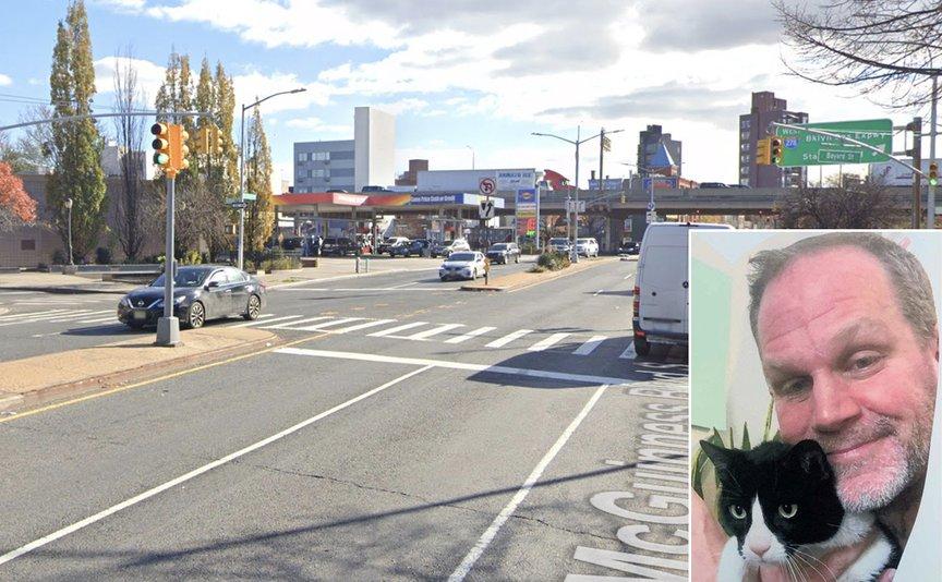 McGuinness Boulevard, where Matthew Jensen (inset) was killed last week