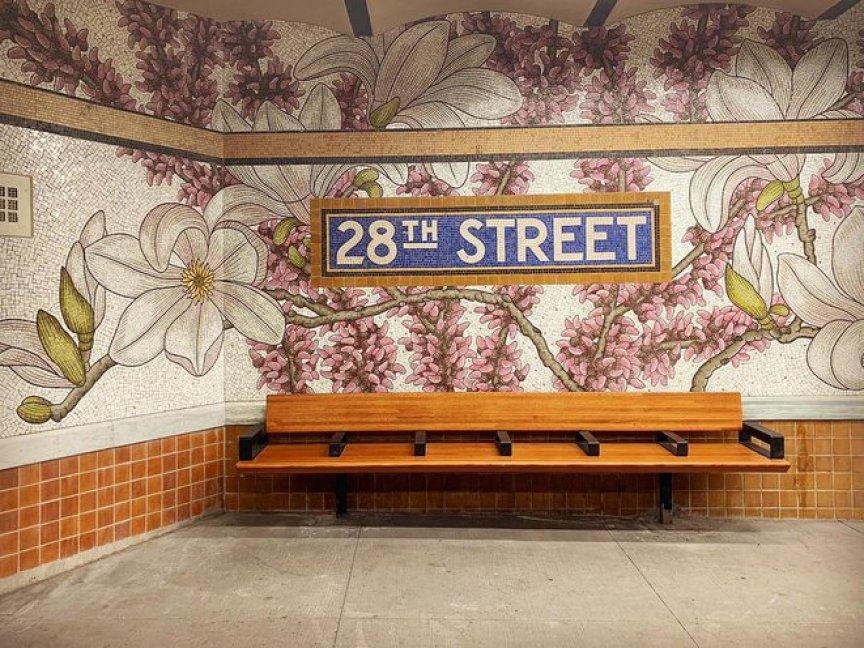 Subway mosaic at 28th Street