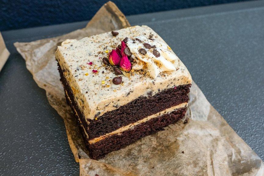 Chocolate Peanut Butter Cake ($5.50)