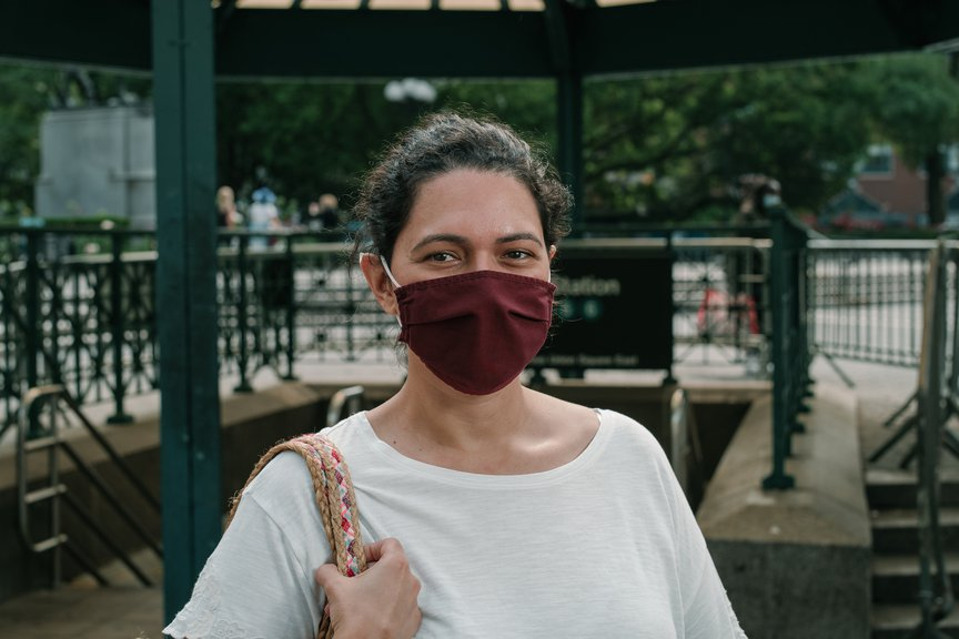 A photo of a woman in Union Square
