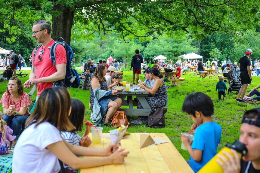 Smorgasburg scene in Prospect Park, June 2021