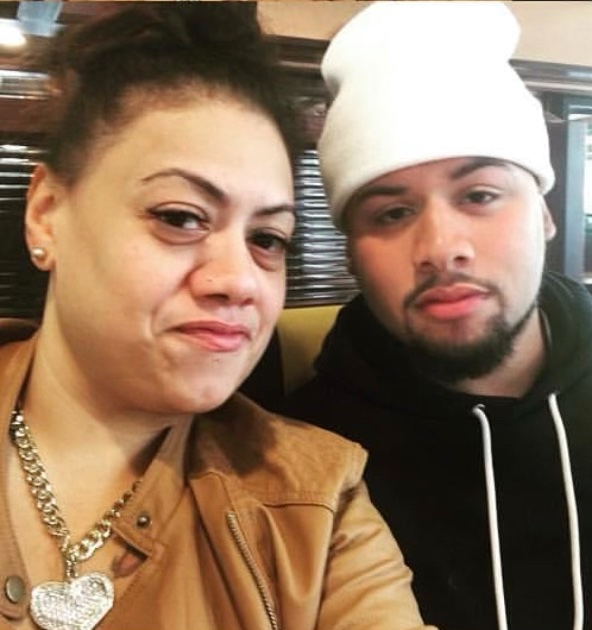 Photograph of Brandon Rodriguez with his mother