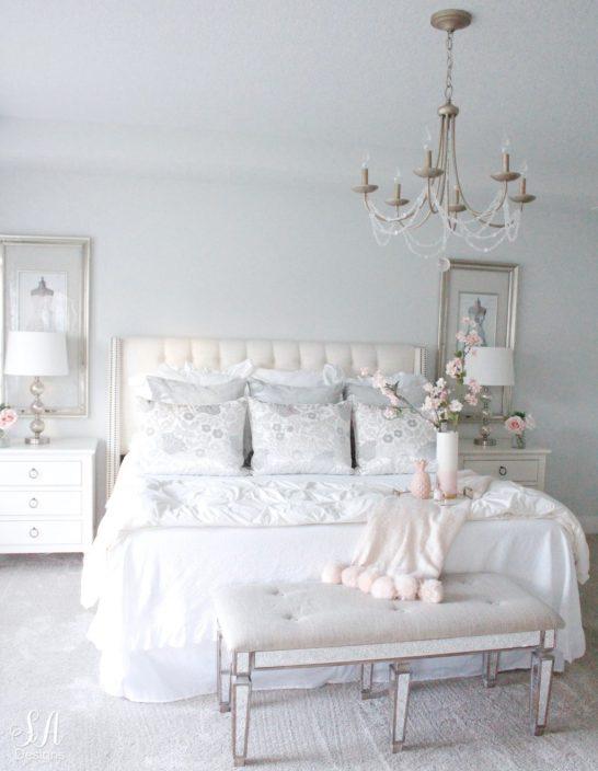 nordstrom at home throw blanket, blush tones, romantic neutral elegant bedroom, gray owl 50% benjamin moore