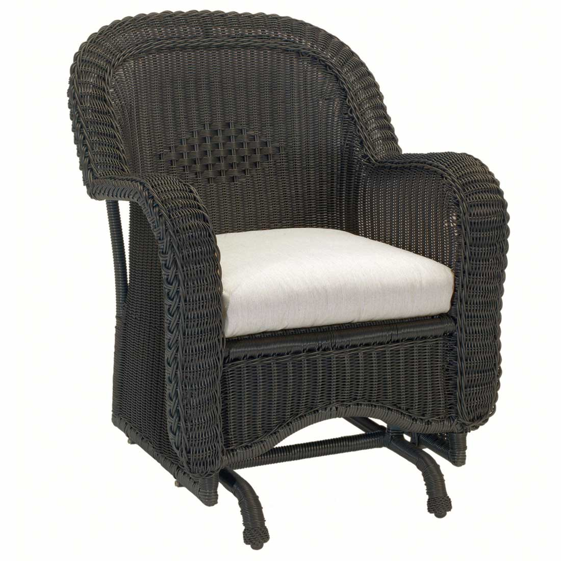 Black Wicker Rocking Chairs Classic Outdoor Wicker Single Glider