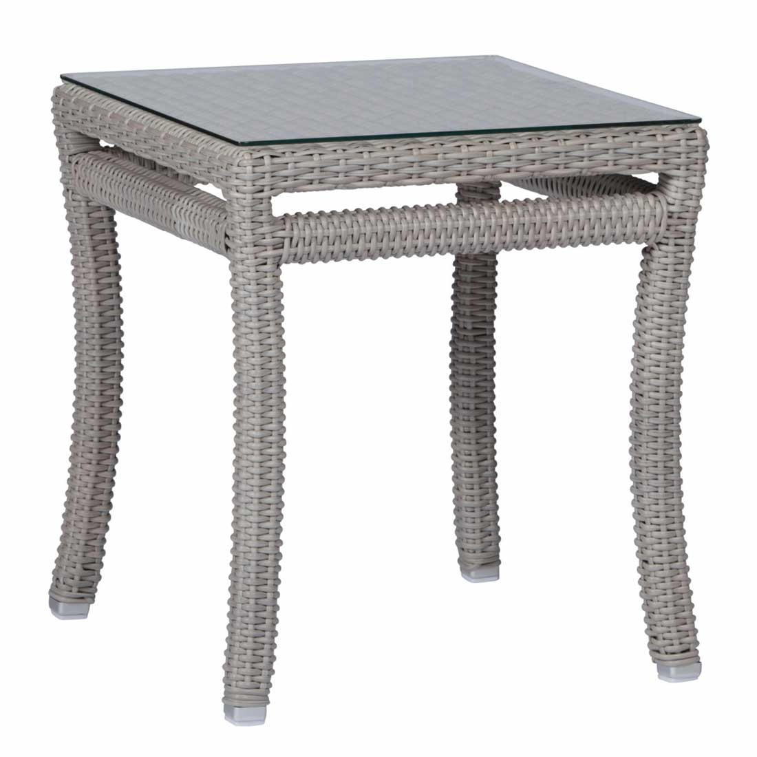 Club Woven Wicker Outdoor End Table