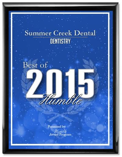 Dentist Humble Texas Award