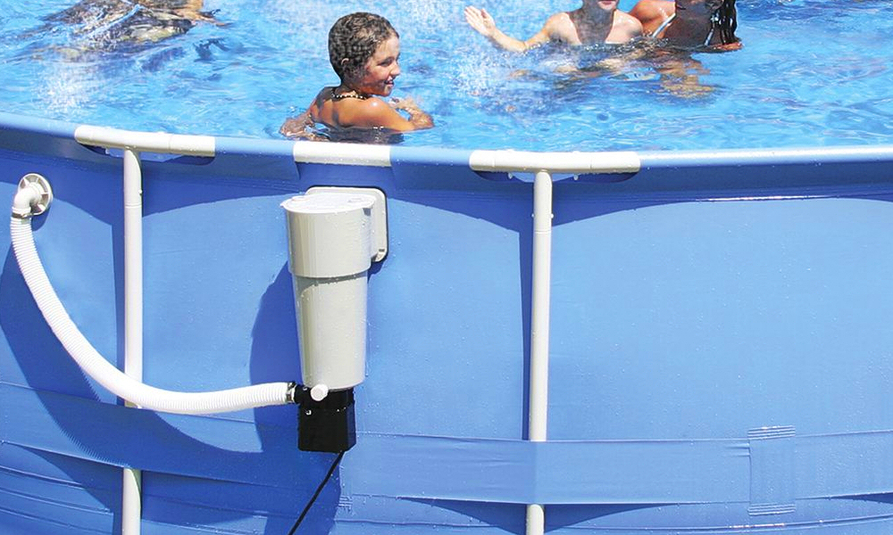 Summer waves piscine top heated pool with summer waves for Filtre skimmer piscine