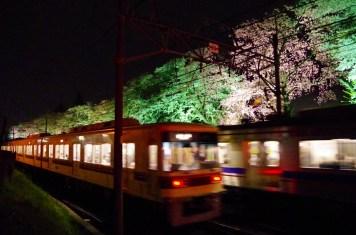 通り過ぎる新京成の車両