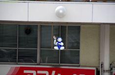 日本人形のオブジェ