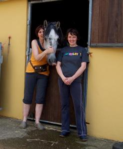Zoe and Amy both enjoy life at the Stables