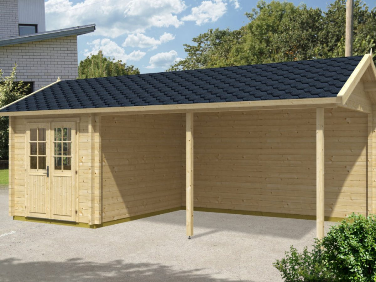 Wooden Carport Arthur With Tool Shed 21m 70mm 3 5 X 7 M