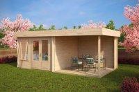 Modern Garden Room with Veranda Lucas D 9m / 44mm / 6 x 3 ...