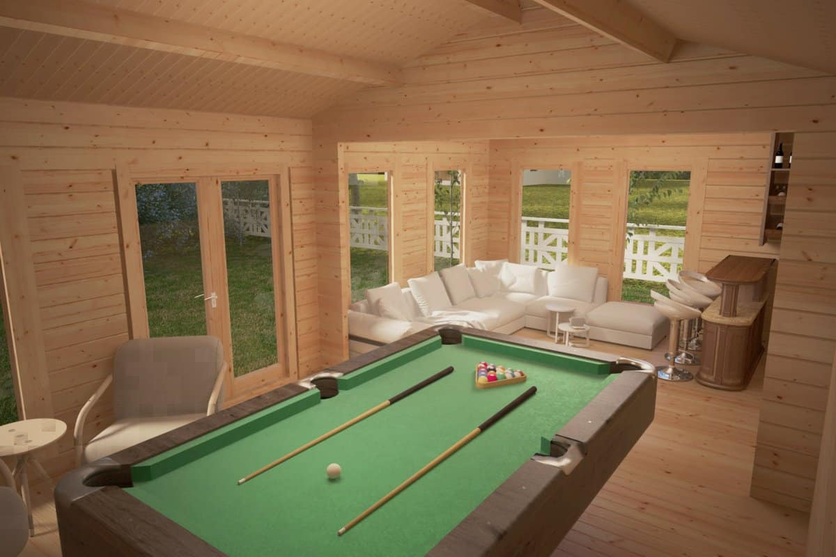 Large Garden Room F 26m 70mm 4 X 7 M Summer House 24
