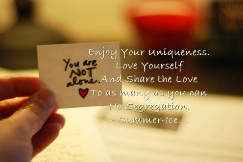 Enjoy your Uniqueness!