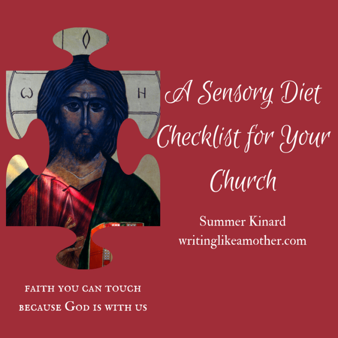 A Sensory Diet Checklist for Your Church