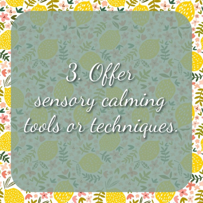 3. Offer sensory calming tools or techniques