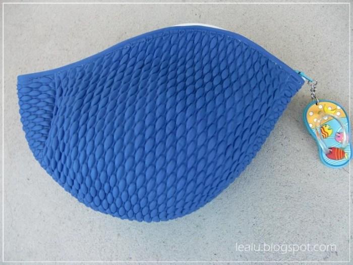 Badekappen Täschchen in Blau