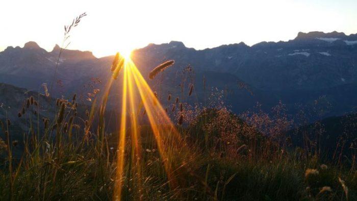 Sonnenuntergang Glarnerland