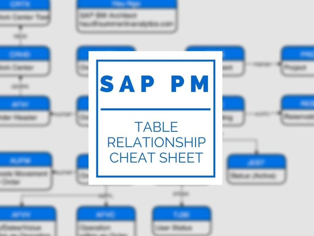 medium resolution of sap pm diagram blog wiring diagram sap pm diagram a visual guide to sap pm tables