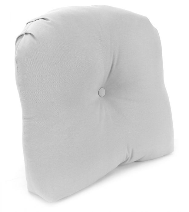 tucked corner curved back cushion 5 thick with same fabric button