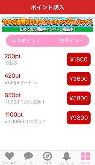 LINK+のポイント購入(課金)画面