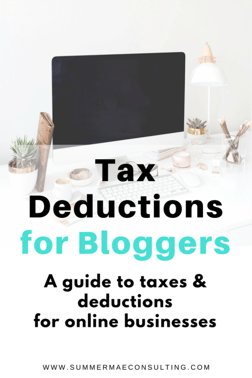 Tax Deductions for Bloggers and online business owners