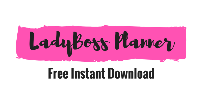 Free LadyBoss Printable Planner
