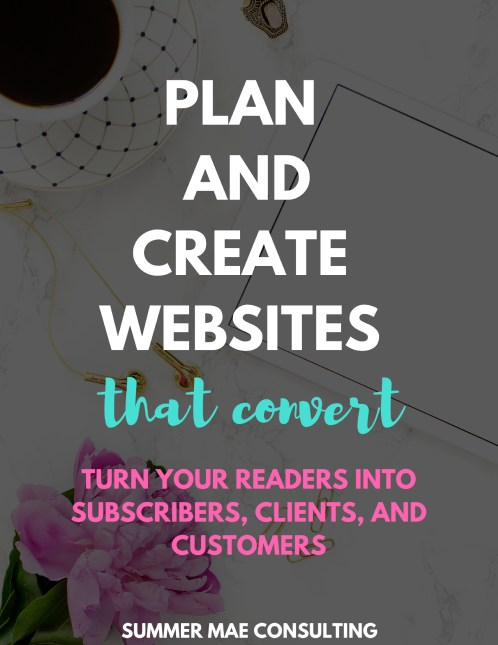 Plan and Create Websites that Convert