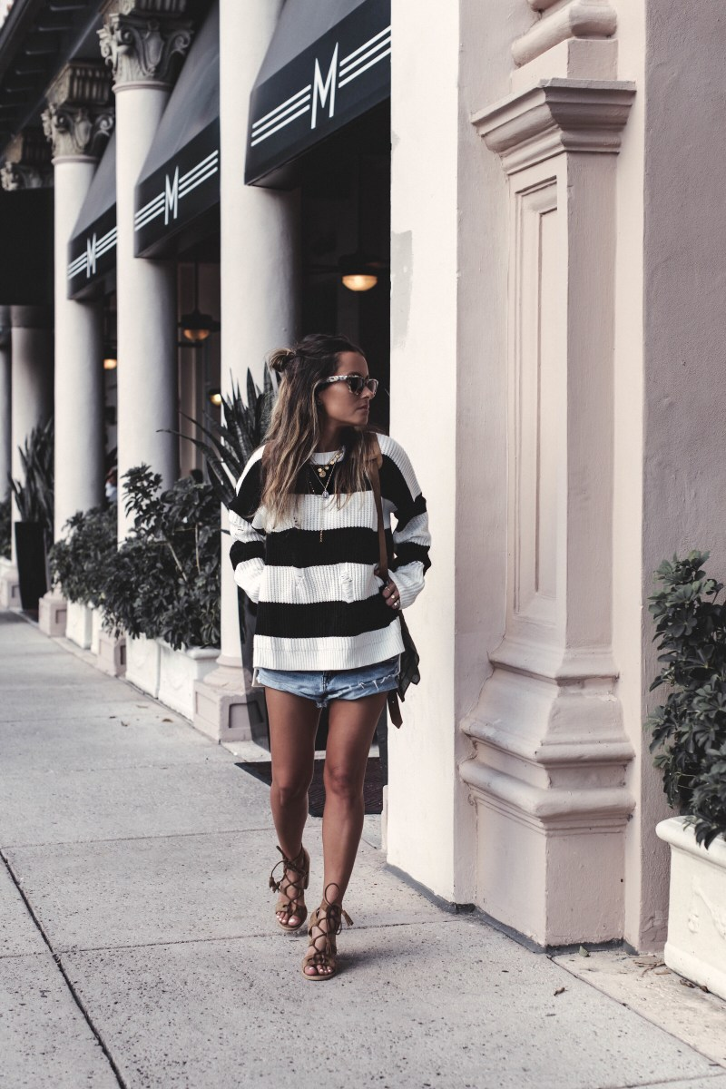 Summer of Diane Boho Style Blogger Striped Sweater