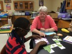 Math game with Mrs. Hawks