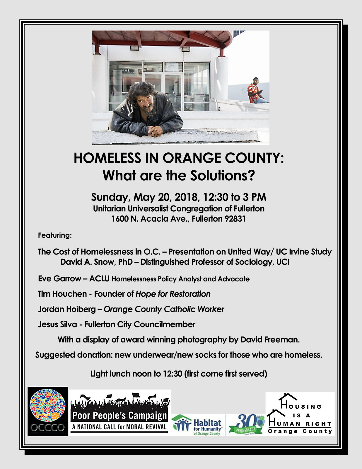 HOMELESS IN ORANGE COUNTY: What are the Solutions