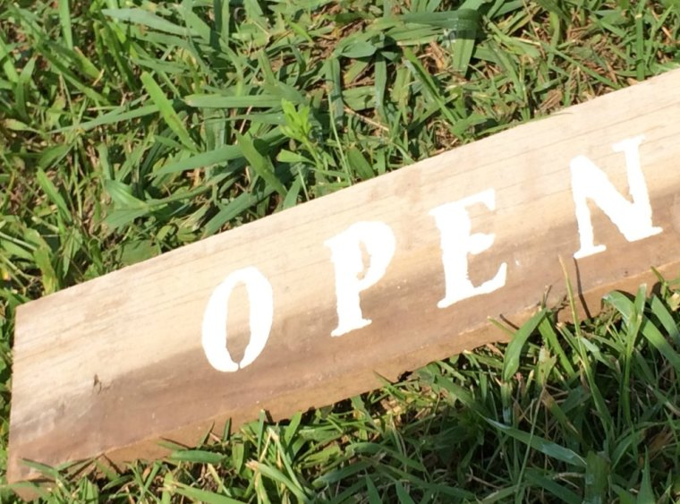 Rustic Market Open Sign from Reclaimed Wood