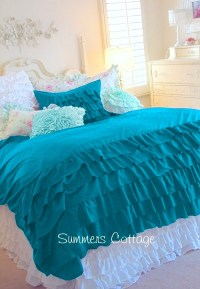 teal ruffle bedding - 28 images - aqua teal turquoise ...