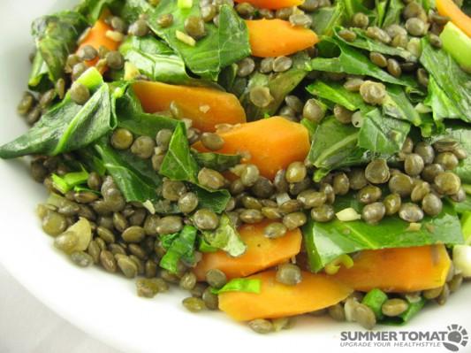 Collards, Carrots and Lentils