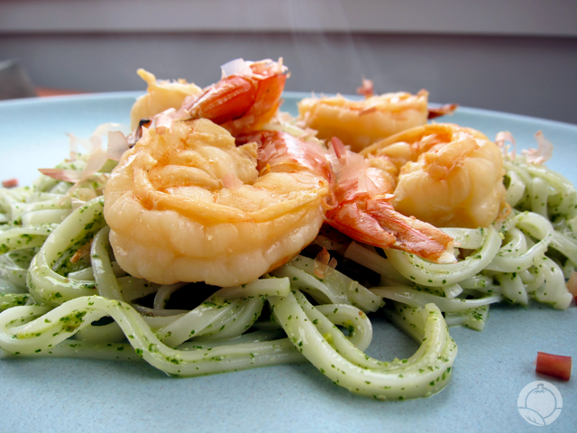 Shiso Pesto With Shrimp