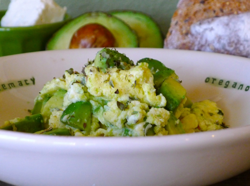 Feta Avocado Scramble