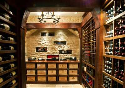 Dramatic Boston Wine Cellar