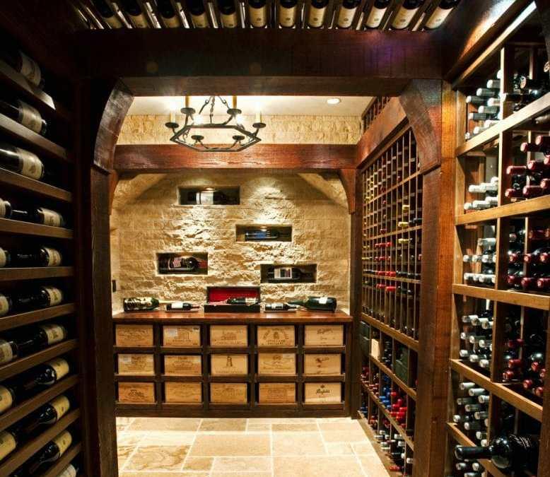 Dramatic Boston Wine Cellar