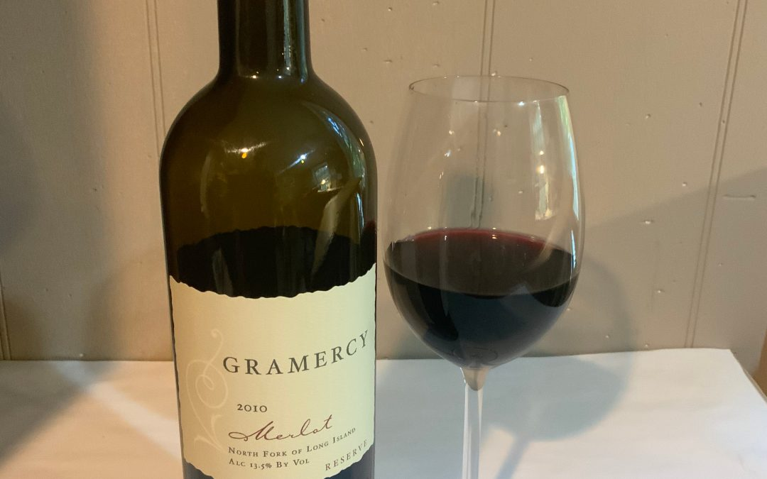 Gramercy Merlot Reserve, North Fork of Long Island 2010