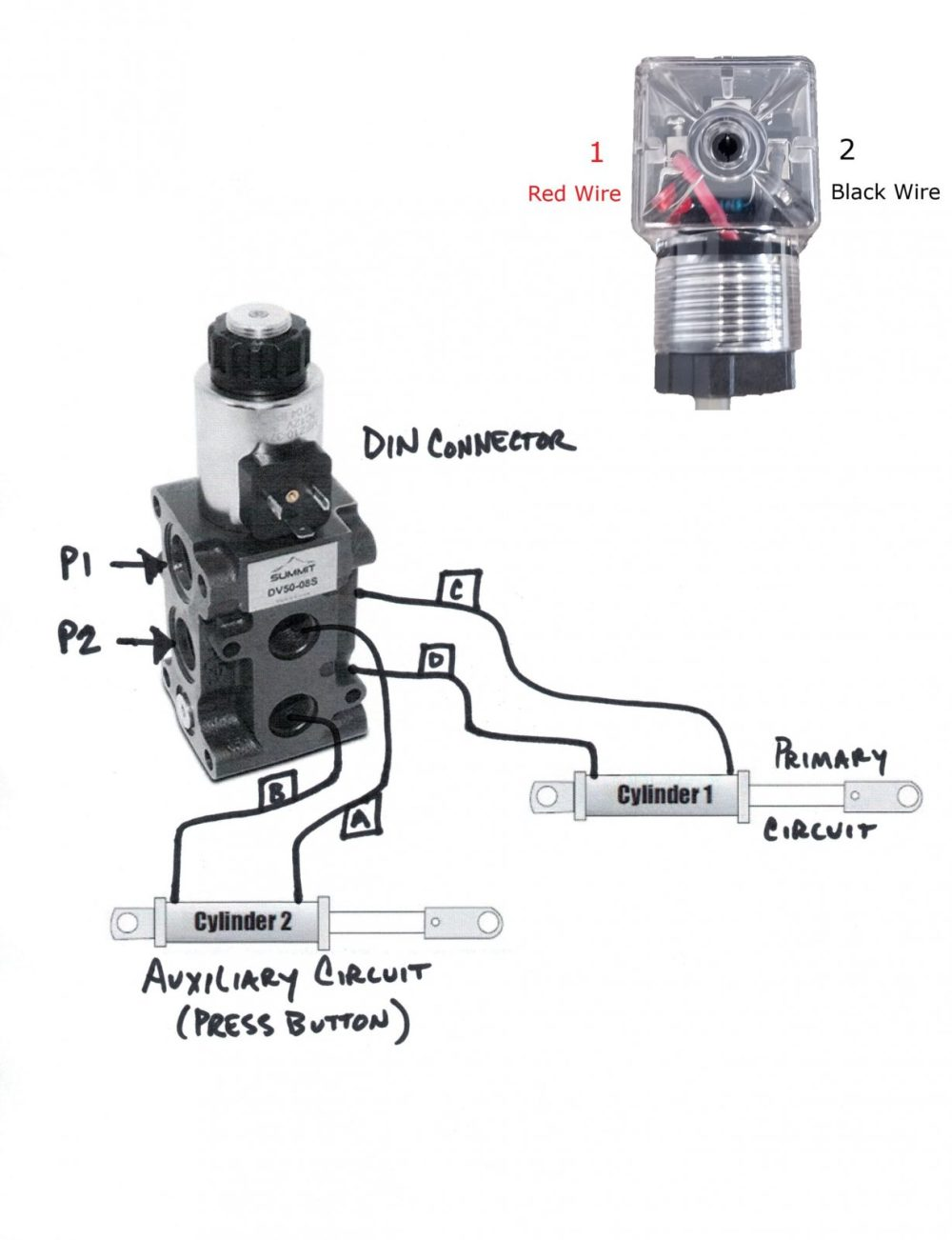 medium resolution of hydraulic solenoid selector dv50 instruction diagram how a diverter valve works diverter selector valve