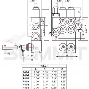 Monoblock Hydraulic Directional Control Valve, 7 Spool, 11 GPM