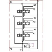 Monoblock Hydraulic Directional Control Valve, 2 Spool, 21 GPM