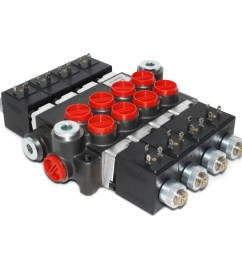 hydraulic monoblock solenoid control valve 4 spool 13 gpm 12v dc din plug wiring diagram [ 1500 x 1500 Pixel ]