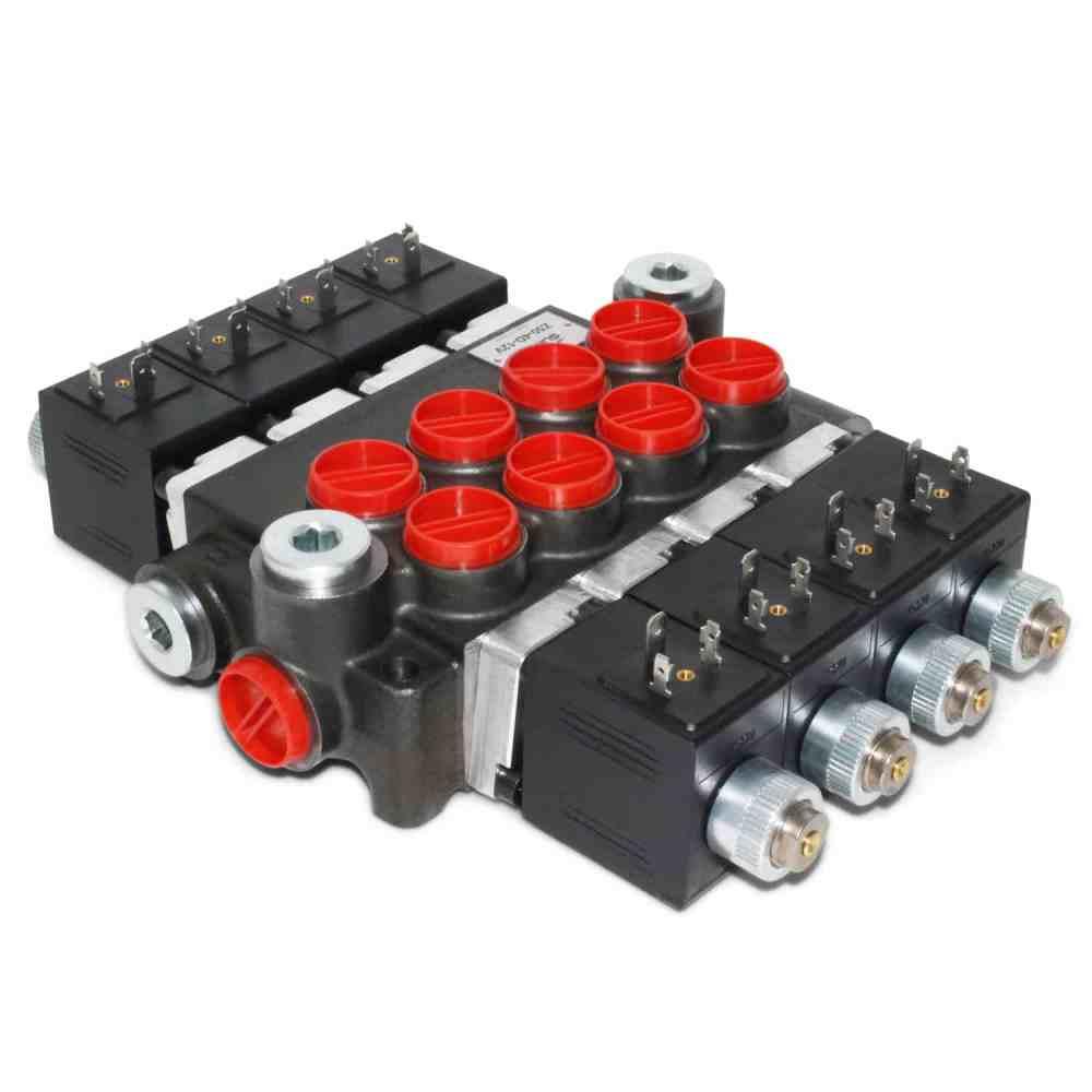medium resolution of hydraulic monoblock solenoid control valve 4 spool 13 gpm 12v dc din plug wiring diagram