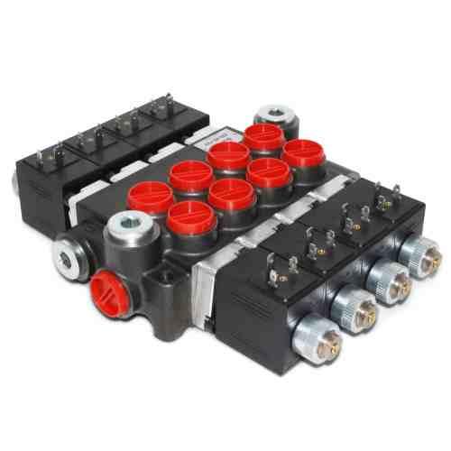 small resolution of hydraulic monoblock solenoid control valve 4 spool 13 gpm 12v dc din plug wiring diagram