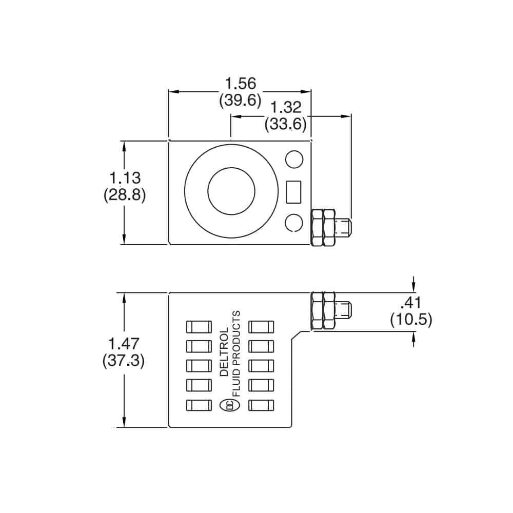 Deltrol 10226-33 Solenoid Coil, Stud Connector, 10v DC, 08