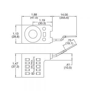 Deltrol 10226-14 Solenoid Coil, Single Lead Wire, 10v DC