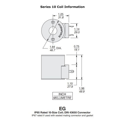 small resolution of hydraforce 4305882 solenoid valve coil 3 prong din connector 12v dc 10 series