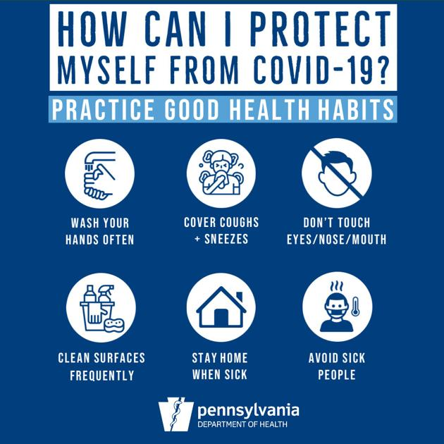 Tips for COVID-19 prevention. Photo courtesy of the Pennsylvania Department of Health.